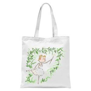 Beauty Dances With Spindle Tote Bag - White
