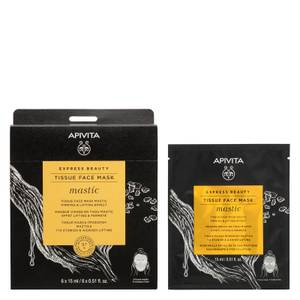 APIVITA Express Beauty Tissue Face Mask Mastic Firming and Lifting Effect with Mastic 15ml