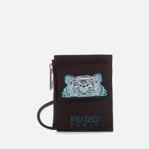 KENZO Kampus Canvas Cardholder on Strap - Black