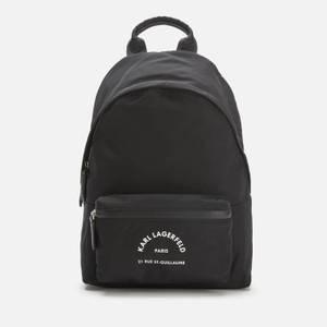 Karl Lagerfeld Women's Rue ST Guillaume Medium Backpack - Black