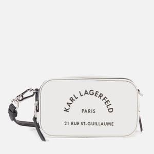 KARL LAGERFELD Women's Rue St Guillaume Camera Bag - White