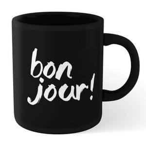 The Motivated Type Bonjour! Mug - Black