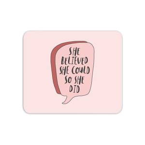The Motivated Type Speech Bubble Mouse Mat