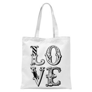 The Motivated Type Love Tote Bag - White