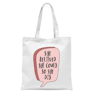 The Motivated Type Speech Bubble Tote Bag - White