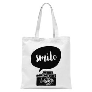 The Motivated Type Smile For The Camera Tote Bag - White
