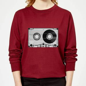 The Motivated Type Tape Women's Sweatshirt - Burgundy