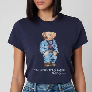 Polo Ralph Lauren Women's Denim Bear Short Sleeve T-Shirt - Classic Royal