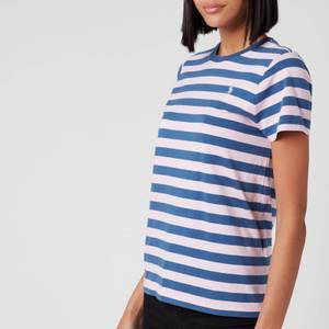 Polo Ralph Lauren Women's Stripe Short Sleeve T-Shirt - Garden Pink/ Earth Blue