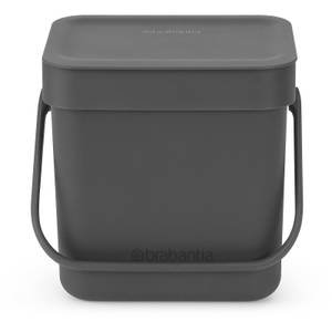 Brabantia Sort & Go 3 Litre Waste Bin - Grey
