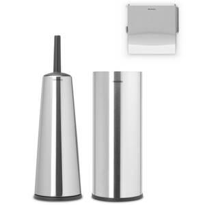 Brabantia Toilet Accessories - Brilliant Steel (Set of 3)