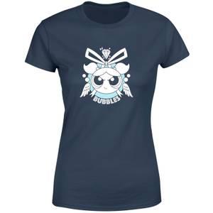 The Powerpuff Girls Bubbles Women's T-Shirt - Navy