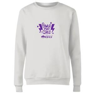 The Powerpuff Girls Thunderbolts Sweater Women's Sweatshirt - White