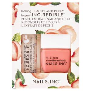 Nails INC. Peach and Perky Varnish and Lip Duo Kit