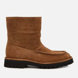 KENZO Women's K-Mount Suede/Shearling Lined Boots - Brown