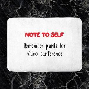 Remember Pants Bath Mat