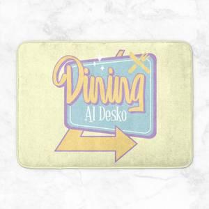 Dining Al Desko 60s Bath Mat