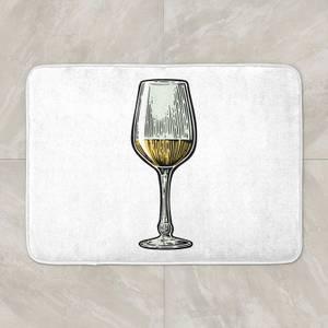 White Wine Bath Mat