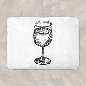 Wine Glass Bath Mat