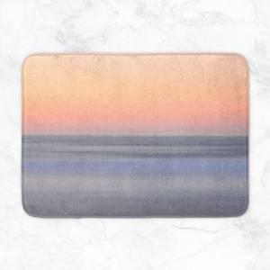 Sunset Orange Blue Bath Mat