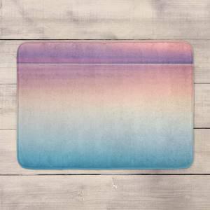 Sunset Blue And Pink Bath Mat