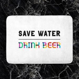 Save Water, Drink Beer Bath Mat