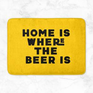 Home Is Where The Beer Is Bath Mat
