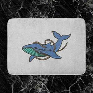 Sea Blue Whale Bath Mat