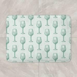 Wine Glass Pattern Bath Mat