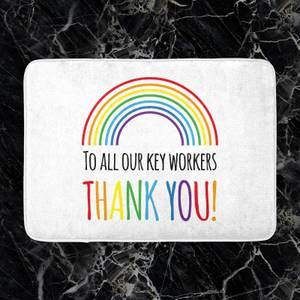 To All Our Key Workers Thank You! Bath Mat