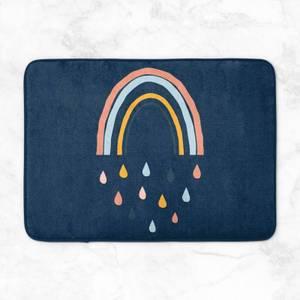 Rainbow And Rain Fall Bath Mat