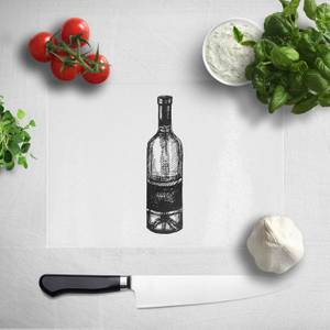 Wine Bottle Chopping Board