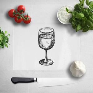 Wine Glass Chopping Board