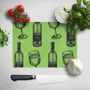 White Wine And Bottle Chopping Board