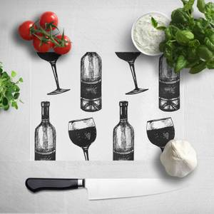 Red Wine And Bottle Chopping Board