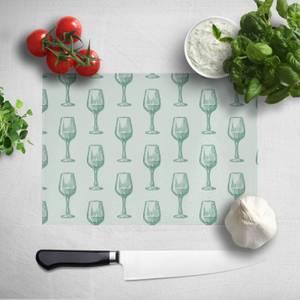 Wine Glass Pattern Chopping Board
