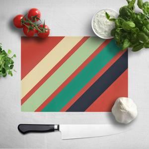 Green Retro Stripe Chopping Board