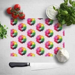 Fluro Flower Pattern Light Chopping Board