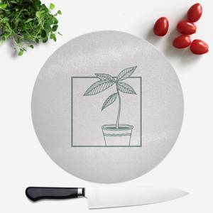 Plant Round Chopping Board