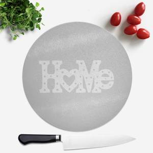 Home Typographic Round Chopping Board