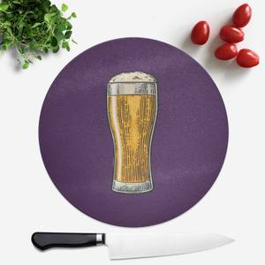 Beer Round Chopping Board
