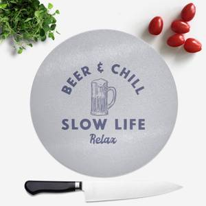 Beer And Chill Round Chopping Board