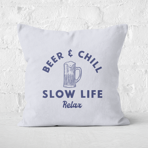 Beer And Chill Square Cushion