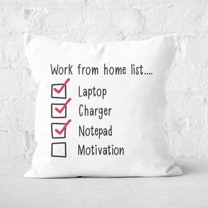Lacking Motivation Square Cushion
