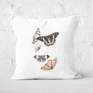 Isolated Butterflies Square Cushion