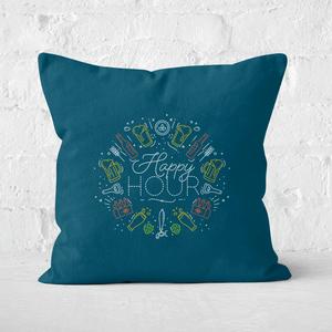 Happy Hour Square Cushion