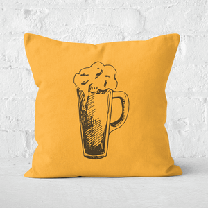Beer Glass Square Cushion