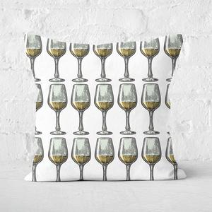 White Wine Square Cushion