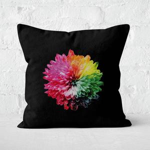 Fluro Flower Square Cushion