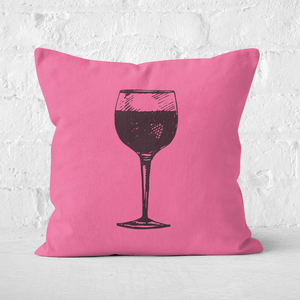 Red Wine Square Cushion
